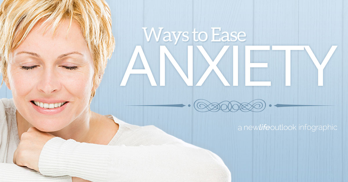 migraine and anxiety infographic: New Life Outlook  Infographic