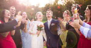 A wedding reception party