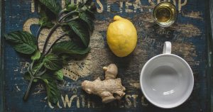 ingredients to make ginger tea: an example of natural migraine relief
